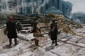 Chapter 21 - Selene, Ralof, and Brynjolf with Dragon