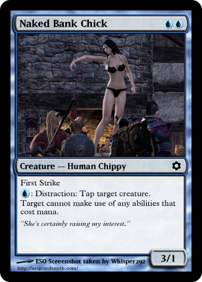 Naked Bank Chick Card