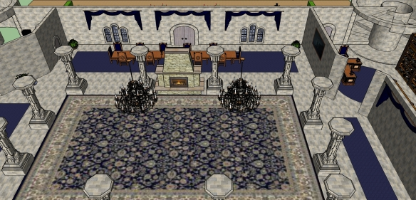1st Floor Furnished - Great Hall and Dining